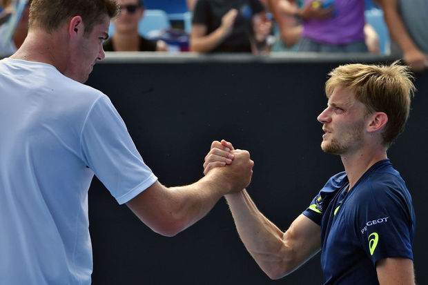 Open d'Australie: Goffin s'en sort en 5 sets