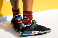 Pharrell Williams, collection Adidas Tennis 'Don't Be Quiet Please' , ISOPIX