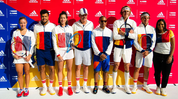 Angelique Kerber, Jo-Wilfried Tsonga, Garbine Muguruza, Pharrell Williams, Alexander Zverev et Dominic Thiem
